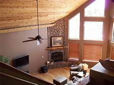 love the ceiling paint color floor and stone combo in