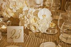 gold and cream table decor