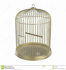 gabbia uccello gabbia di uccello dorata illustrazione di stock