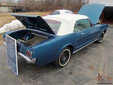 1965 Ford Mustang K Code 4 Speed Convertible  Guardman