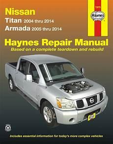 car manuals free online 2004 nissan pathfinder armada windshield wipe control nissan titan nissan armada repair manual 2004 2014 haynes