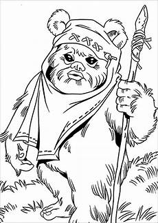 Pictures To Colour Wars Ewok Coloring Page Coloring Home