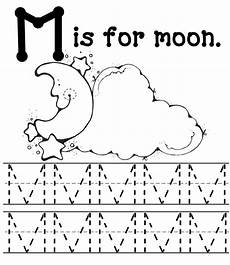 letter m m worksheets 24306 m is for moon letter tracing page