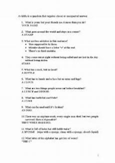 riddles worksheets 10881 riddles answers esl worksheet by boris7