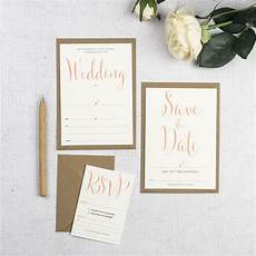 calligraphy script diy wedding invitation by russet