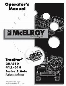 Mcelroy Tracstar 174 618 Fusion Machine