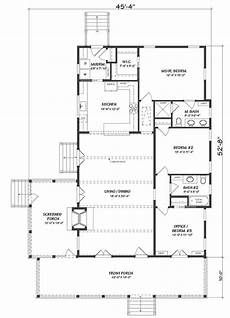 southern living ranch house plans sl1977 mainfloor river s edge