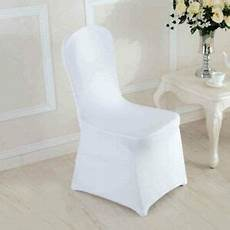 chair covers spandex lycra cover wedding banquet anniversary party decor white ebay