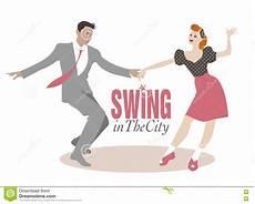 swing lindy lindy hop vector illustration cartoondealer