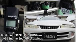 TOYOTA SPRINTER MARINO 4AFE Twincam Engine Sound Recording