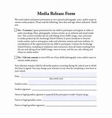 media release form template for students sle media release form 6 download free documents in word word