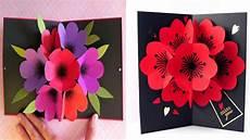 how to make a bouquet flower pop up card diy 3d flower