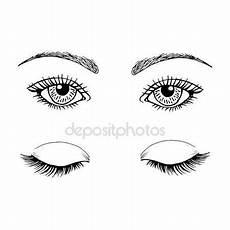 Malvorlagen Seite De Ojos Descargar Maquillaje De Ojos Ilustraci 243 N De Stock
