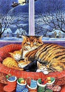 christmas cat kittens peinture de chat peinture chat