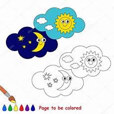 dibujos dia y noche dibujo d 237 a y noche en dibujos animados de vector colorear vector
