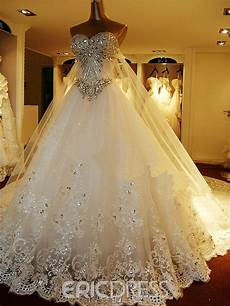Wedding Gowns With Diamonds ericdress luxurious wedding dress with