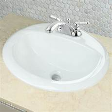 nantucket sinks di2017 4 drop in oval ceramic bathroom vanity sink in white