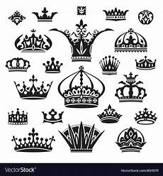 Set Of Different Crowns Royalty Free Vector Image