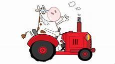 Comment Dessiner Une Vache Conduire Un Tracteur