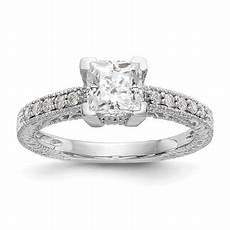 diamond2deal 14k white gold square cut diamond wedding band ring walmart com