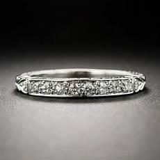 art deco style diamond wedding band estate vintage