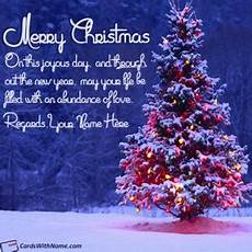 merry christmas wishes greeting cards with name edit