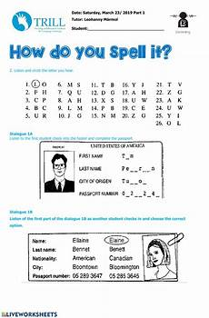 spelling names worksheets 22490 listening spelling alphabet interactive worksheet