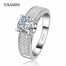 100 pure silver jewelry aaa zircon wedding rings for vintage bague engagement bijoux for