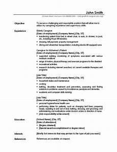 caregiver resume