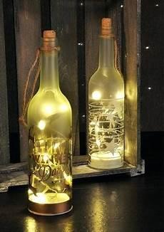 flaschenle selber machen glasflasche flasche lichterkette glas deko weihnachten mit