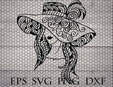 Mandala Frau - zentangle svg mandala svg intricate svg file