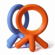 comotomo silicone teether bundle 4 orange blue comotomo