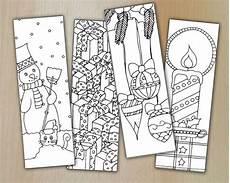 Malvorlage Lesezeichen Weihnachten Winter Zentangle Digital Bookmarks Zum Ausmalen