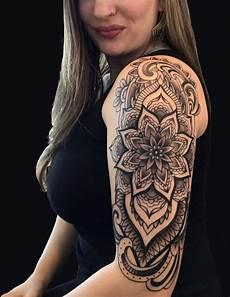 Mandala Flower Arm Half Sleeve By Figueroa