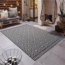 design in outdoor teppich schwarz creme