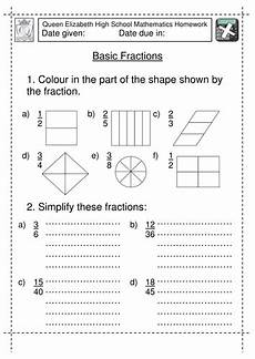 fraction worksheets 7 4129 year 7 basic fractions worksheet teaching resources