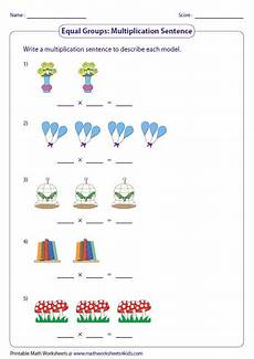 worksheets on multiplication and division for grade 2 6659 writing multiplication sentences equal groups matematik