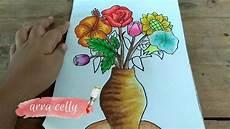 Cara Menggambar Vas Bunga Dan Bunganya Belajar Menggambar