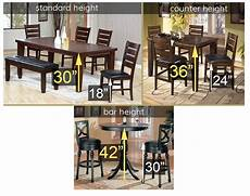 standard height counter height and bar height tables counter height vs standard height vs bar height tables and