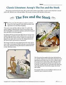 aesop s the fox and the stork literature comprehension set