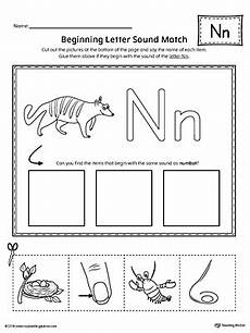 letter n phonics worksheets 24159 letter n beginning sound picture match worksheet myteachingstation