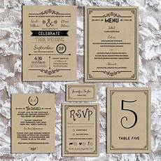Printable Wedding Invitation Sets