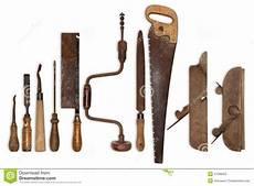 composition de vieux outils pour le bois photo stock