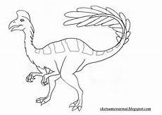 Sketsa Mewarnai Gambar Hewan Dinosaurus Sketsa Mewarnai