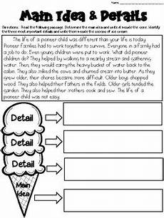 main idea worksheets with graphic organizers grades 2 3 by deb hanson