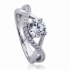 double accent platinum plated sterling silver wedding ring cz infinity design engagement