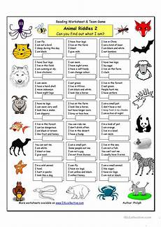 animals worksheets exercises 13776 animal riddles 2 medium worksheet free esl printable worksheets made by teachers