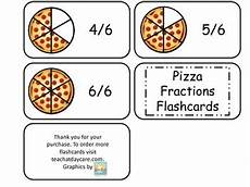 printable math flash cards fractions 10805 pizza number fractions flash cards math fractions printable educational cards