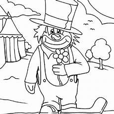 circus clown coloring page color