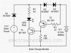 simple circuit schematic solar charger monitor eltronicschool